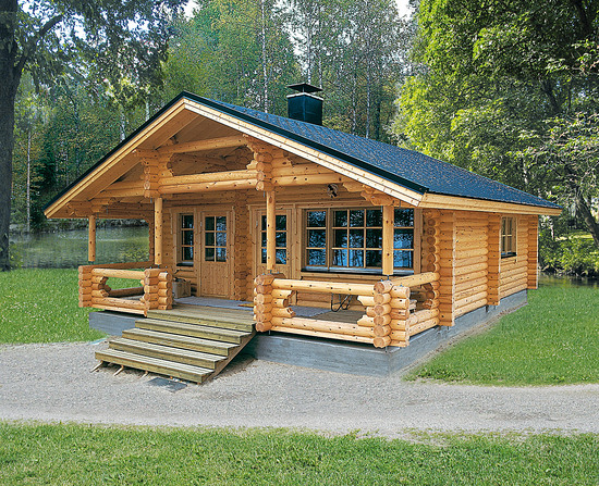 Eco house passive house producer finnish log houses for Eco cabin designs